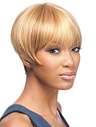 Blode Yellow Short Size High Quality Straight Hair Female Elegant Fashion Ombre Synthetic Celebrity Wig