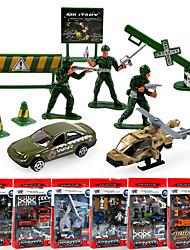Dibang -1700 children's educational toy car alloy car models military model 6 asstPCS)