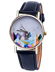 Geometric Mountain Watch Men's Watch Women Watches Leather Watch Vintage Style   Boyfriend Watch Gift Spring Cool Watches Unique Watches