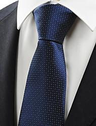 KissTies Men's Navy Dark Blue Dot Necktie Business Work Casual Tie With Gift Box