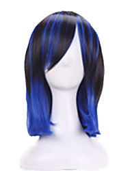 Harajuku Cosplay Anime Wig Young Heat Resistant Colorfull Ombre Wig Party Synthetic Wigs With Bangs