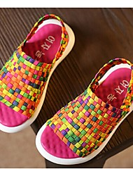 Zapatos de bebé-Sandalias-Casual-Algodón-Rosa / Rojo