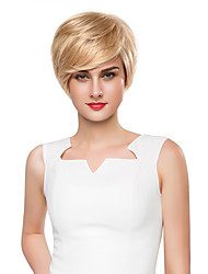 Fashion Layered Woman's Capless Short Straight Remy Human Hair Hand Tied Top wigs