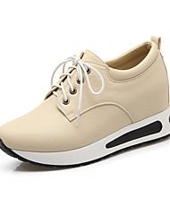 Черный / Белый / Миндальный-Женская обувь-Для прогулок / Для офиса / Для праздника-Материал на заказ клиента / Дерматин-На платформе-