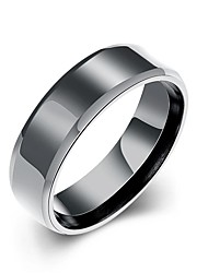 lureme® Unisex High Quality Black Stainless Steel Polished Ring