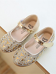 Girl's Flats Spring Comfort Leatherette Outdoor Pink Silver Gold