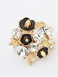 European And American Punk Retro Diamond Flower Ring