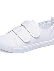 UnisexConfort-Zapatos de taco bajo y Slip-Ons-Deporte-Tela-Blanco