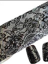 1PCS 100cmx4cm наклейки фольги блеск ногтей сексуальные кружева череп цветок ногтей украшения поделок красоты stzxk11-15