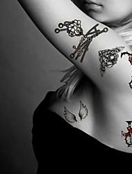 Fashion Temporary Tattoos Rock Sexy Body Art Waterproof Tattoo Stickers 5PCS  (Size: 3.74'' by 6.69'')