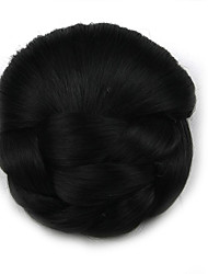 Kinky Curly Brown Lady Human Hair Weaves Chignons 2
