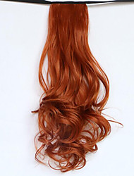 Borwn Length 50CM The New Belt Type Long Curly Wig Horsetail Hair fake Ponytail(Color 119)