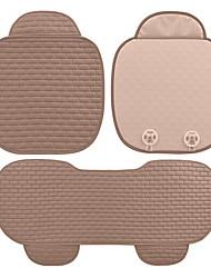 ajuste universal para o carro, caminhão, suv, ou van carro pano plana assento 3 peças de marfim