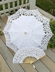 Mariage / Plage Coton Parapluie Env.66cm Bois Env.78cm