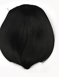 Kinky Curly Black Retardant Human Hair Weaves Chignons 2