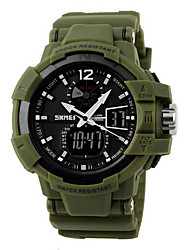Men's Fashion Sport Analog Digital Dual Time Rubber Band Waterproof Watch