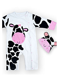 Fashion Spring Autumn Cotton Fabric Long Sleeve Baby Boy Girl Rompers Newborn Infant Clothes