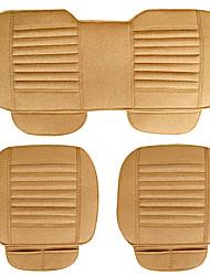Flax Car Seat Cushion 3PCS Yellow