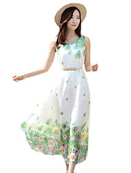 2016 Summer New Women's Bohemian Beach Chiffon Dress