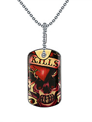 Men's Pendant Necklaces Pendants Stainless Steel Skull / Skeleton Fashion Red Jewelry Daily Casual 1pc