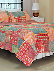"3PC Quilt Sets Full Cotton Multicolor Pattern 71""W*87""L"