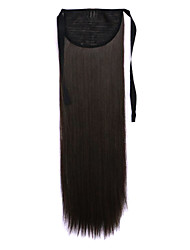 Black Length 60CM Synthetic Bind Type Long Straight Hair Wig Horsetail(Color 6B)