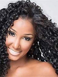 Evawigs Brazilian Human Virgin Hair Full Lace Wig Curly Wig for Black Women