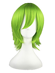 Cosplay Wigs Reborn! Yoruichi Shihoin Green Short Anime Cosplay Wigs 35 CM Heat Resistant Fiber Male / Female