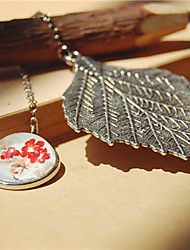 1PC Big Leaf Metal Bookmark Creative Gift