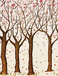 Mural Floral Papel de parede Clássico Revestimento de paredes,Tela Sim