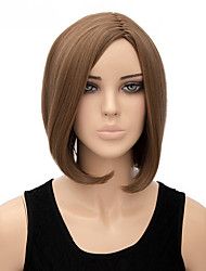 Fashion Natural Middle Brown Bobo Straight Wigs Synthetic Wig