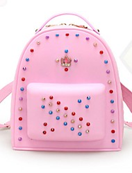 Women Casual Other Leather Type Zipper Backpack
