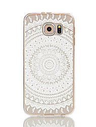 Para Samsung Galaxy S7 Edge Transparente / Estampada Capinha Capa Traseira Capinha Design de Renda Macia TPU S7 edge / S7 / S6 edge / S6