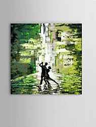 Hand-painted Drunken Tango people Oil Painting Bar Restaurant Decor with Stretched Frame