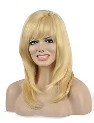 Natural long Blonde Color Popular Synthetic Wig For Woman