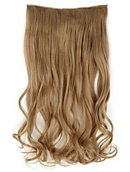 20 Inch Long Synthetic Wavy Clip In Hair Extensions with 5 Clips - 17 Colors Available