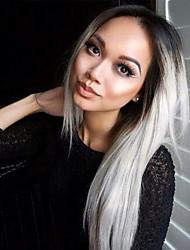 top qualité perruques mode bicolore perruques perruque synthétique ondulée, Vente en gros ombre perruques la meilleure perruque
