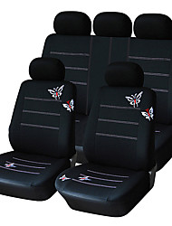universell passend für Auto, LKW, Geländewagen, oder van Polyester Autositzabdeckung vollen Satz voller Sitzbezug-Set (14 Stück)