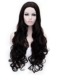 le nouveau bouclés perruque de cheveux perruque 30 pouces noir points