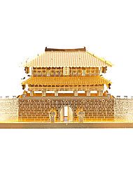 Jigsaw Puzzles 3D Puzzles / Metal Puzzles Building Blocks DIY Toys Chinese Architecture Metal Silver / Gold Model & Building Toy