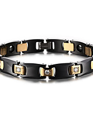 Magnetic Therapy Bracelet Men's Jewelry Luxury Hematite Black Ceramic Bracelet