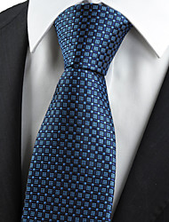 KissTies Men's Navy Blue Tie Wedding/Party/Work/Casual Necktie With Gift Box