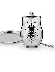 Owl Tea Infuser Stainless Steel Loose Leaf Herbal Spice Filter Diffuer