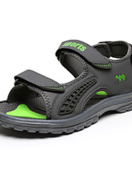 Men's Sandals Casual/Beach Fashion Microfiber Leather Shoes Gray/Dark bule 40-45