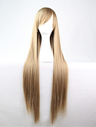 Europe And The United States The New Color Wig 80 CM Wide Shallow Brown Long Straight Hair Wig