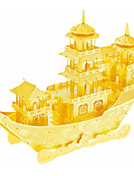 Jigsaw Puzzles 3D Puzzles / Metal Puzzles Building Blocks DIY Toys Ship Metal Silver / Gold Model & Building Toy