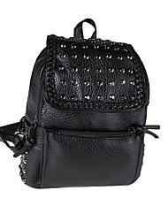 Casual PU Zipper Backpack