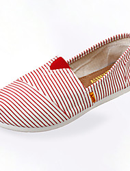 Women's Comfort Fabric Casual Flat Heel Blue / Red
