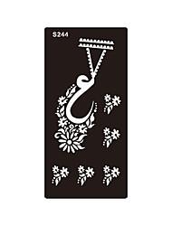 1pc impression aérographe tatouage autocollant modèle art corporel motif temporaire henné pochoir tatouage S244