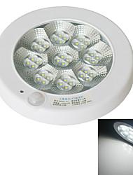 JIAWEN 7W 560-630lm 6000-6500K 36-2835 SMD Cool White LED Sensor Ceiling Lighting - White (AC 220V)